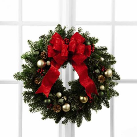 Christmas Wreaths by the Port Alberni flower shop Azaleal Flowers and Gifts