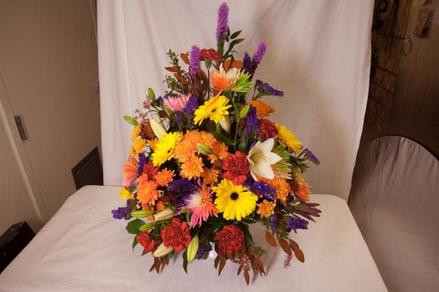 Funeral Arrangement by the Port Alberni florist Azalea flowers & gifts