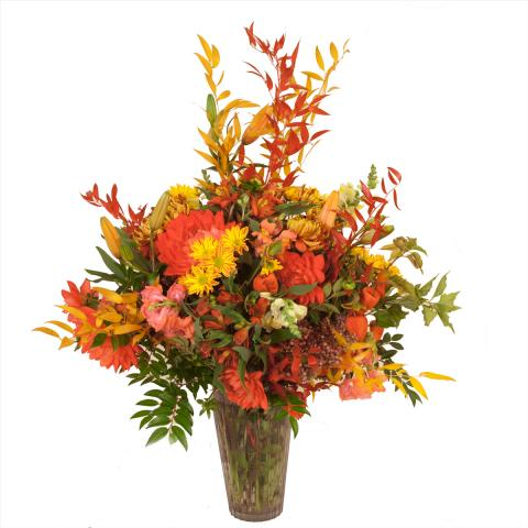 Sympathy Arrangement by the Port Alberni florist Azalea flowers & gifts
