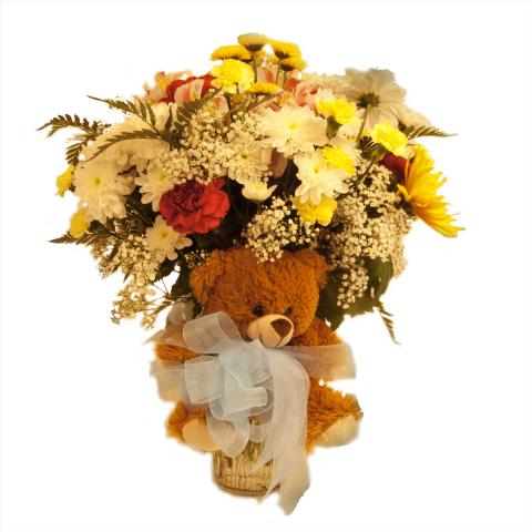 Small new Baby Boy Arrangements starting at $25.00 from the Port Alberni Flower Shop Azalea Flowers & Gifts